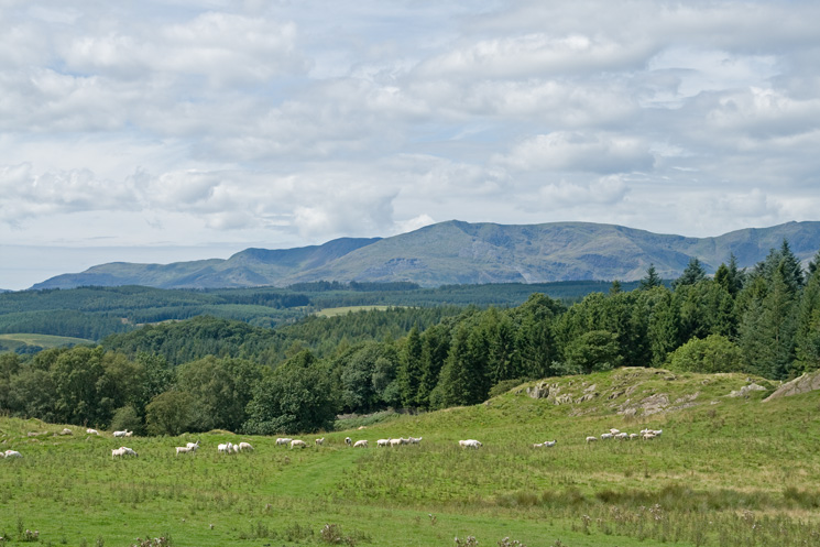 The Coniston Fells as we head back to Far Sawrey