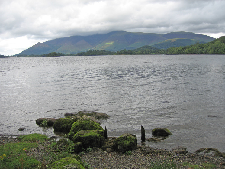 The Skiddaw fells from Barrow Bay