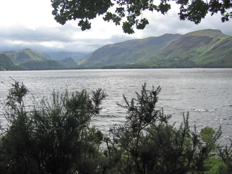 Looking up Derwent Water from the Lions Seat