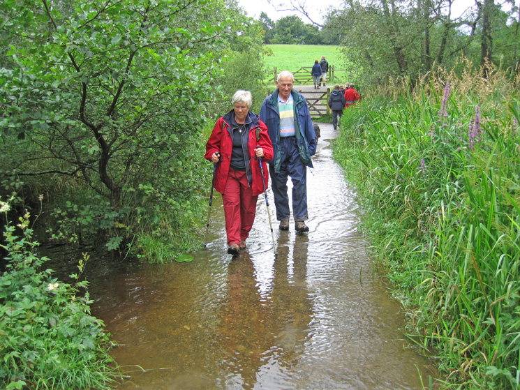 The path through The Ings is flooded in places