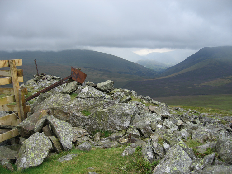 The view south from the fence corner south of Great Calva's summit