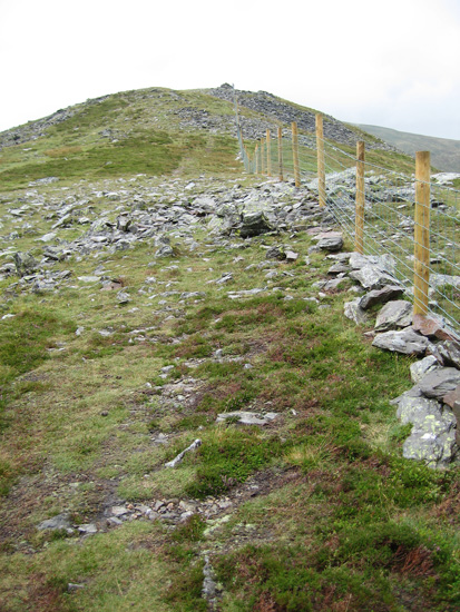 Just follow the fence north to Great Calva's summit, its not far now and nearly all the climb has been done already