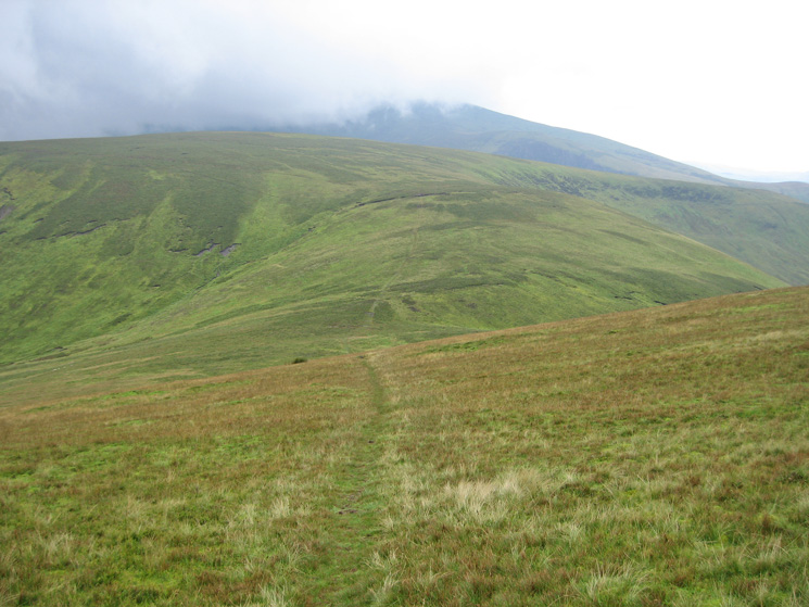 Little Calva with Skiddaw in cloud behind from Knott
