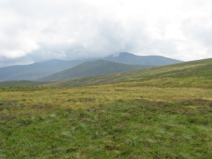 Looking back to Great Calva with Skiddaw Little Man and Skiddaw behind, Knott is out of picture right