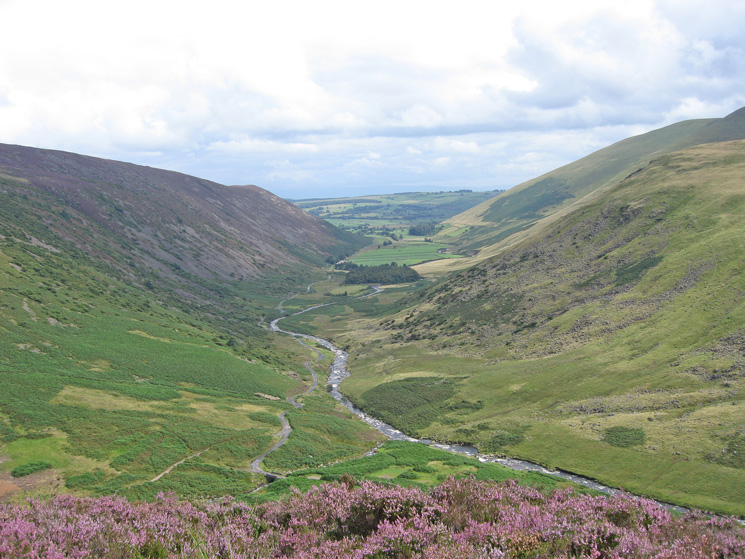 Swineside Valley, the hamlet of Mosedale is at the far end