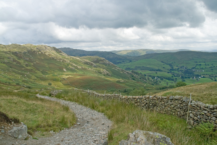 Looking back down my ascent route from Kentmere