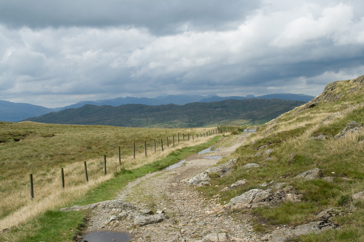 Wansfell with the high fells beyond from Garburn Pass