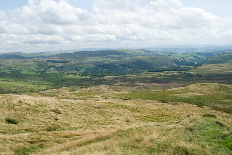The Kentmere valley and Brunt Fell from my pathless descent off Capple Howe