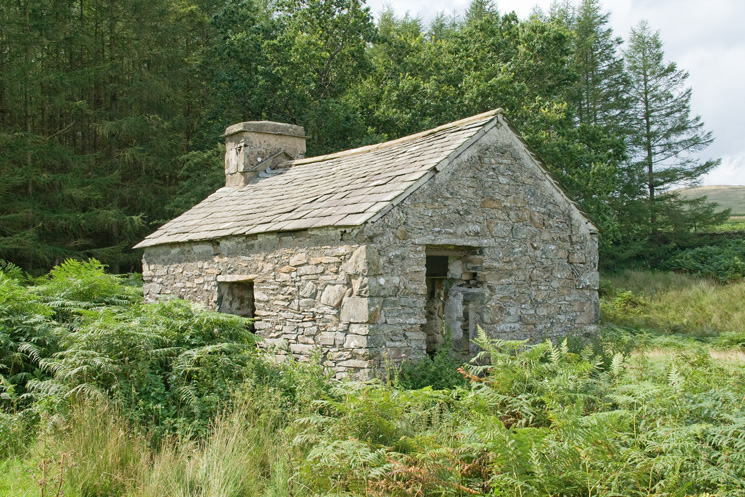 The derelict cottage near Black Beck, sketched by AW in his Outlying Fells guidebook, High Knott chapter