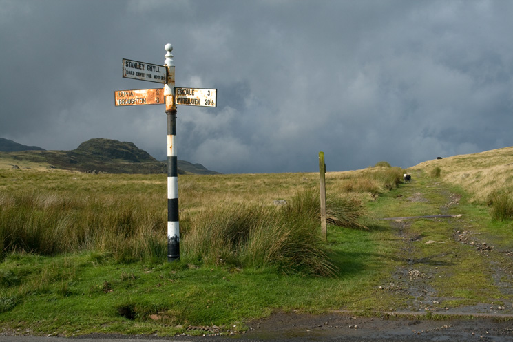 The track to Devoke Water from the Birker Fell road