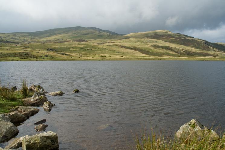 Looking across Devoke Water to Woodend Height