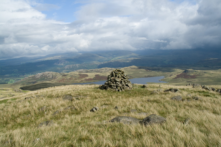 Woodend Height's summit cairn