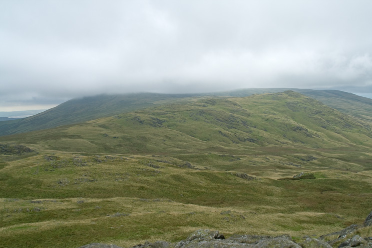 Stainton Pike with Whitfell in cloud behind