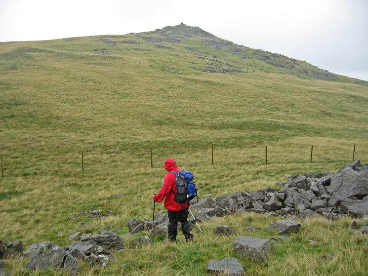 Heading for Stainton Pike's summit