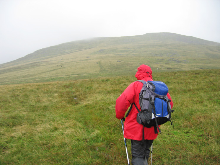 Heading for Whitfell and its chucking it down