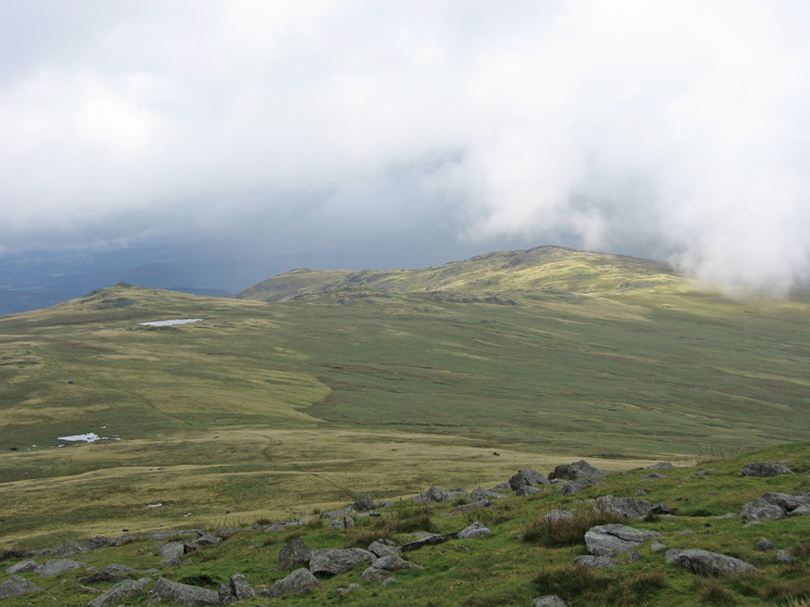 ...but the cloud does lift a bit, looking back to Stainton Pike and Yoadcastle