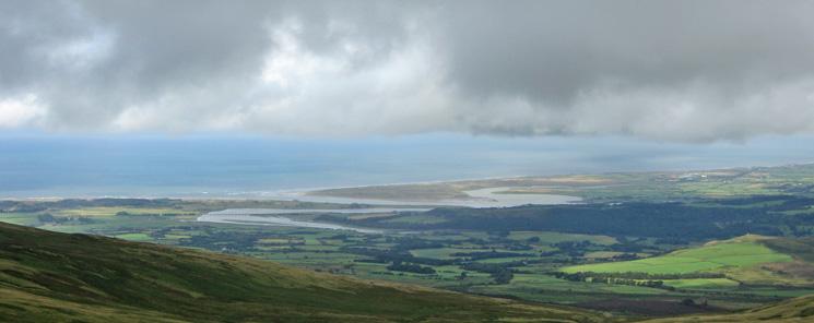 The Esk estuary from Whitfell