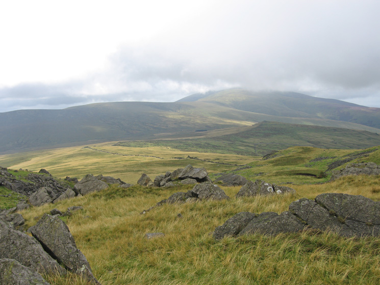 Black Combe with Stoneside Hill in front and Stoupdale Head on the left from Buck Barrow