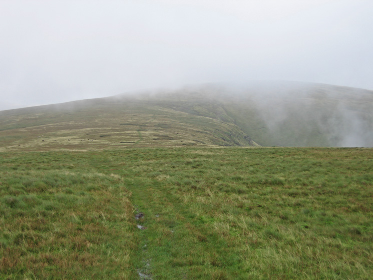 Looking back to Stoupdale Head as we head up Black Combe and into the cloud