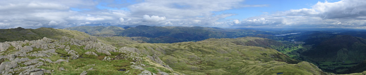 Easterly panorama from Pavey Ark's summit