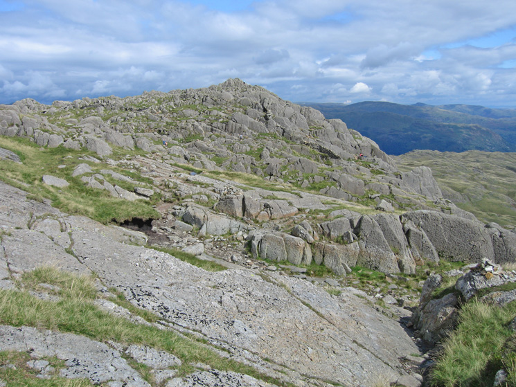 Looking back to Pavey Ark as I head for Harrison Stickle