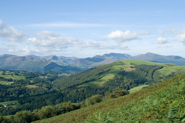 Latrigg and the north western fells from above the Blencathra Centre