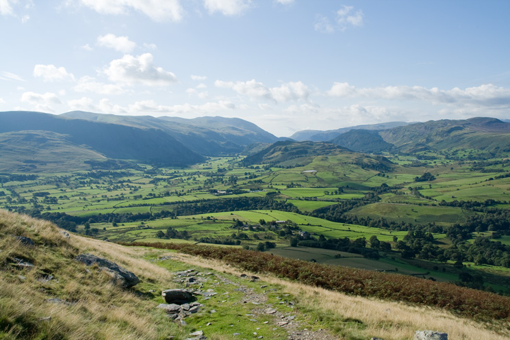The Helvellyn ridge, St John's in the Vale, High Rigg and Bleaberry Fell
