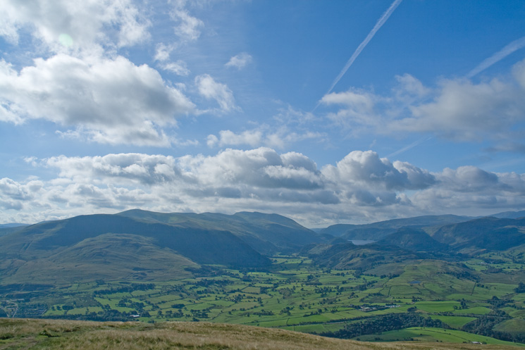 Clough Head and the Dodds leading to Helvellyn and St John's in the Vale