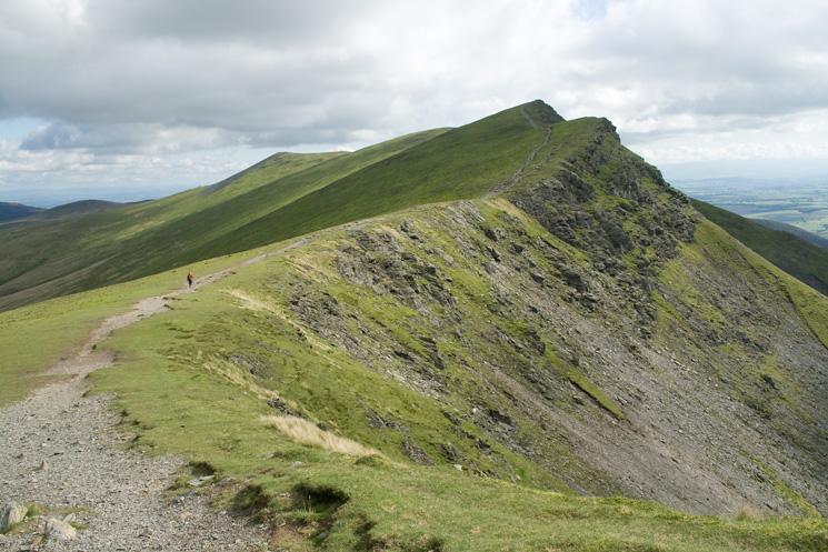 Heading for Gategill Fell Top from Blease Fell