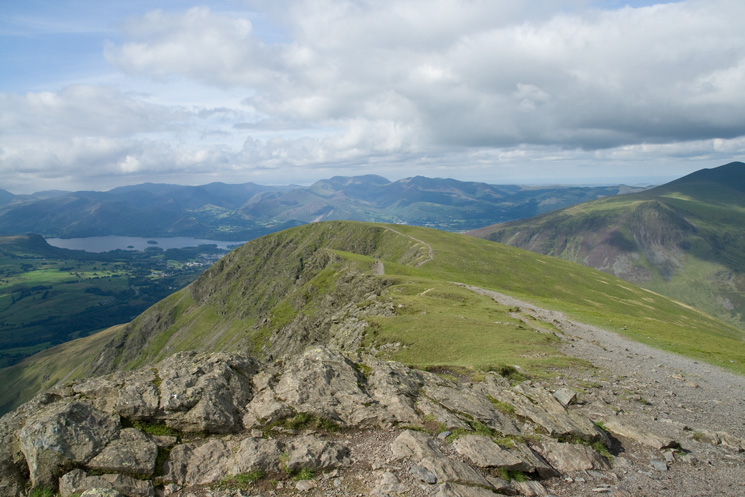 Looking back to Blease Fell from Gategill Fell Top