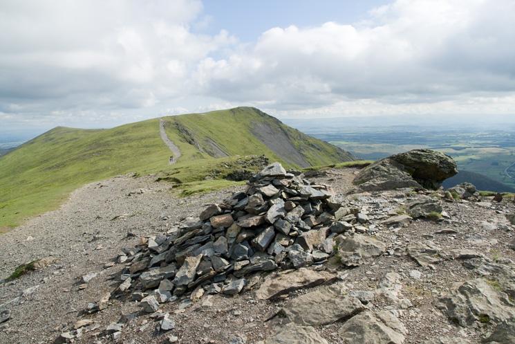 Hallsfell Top (Blencathra's summit) from Gategill Fell Top