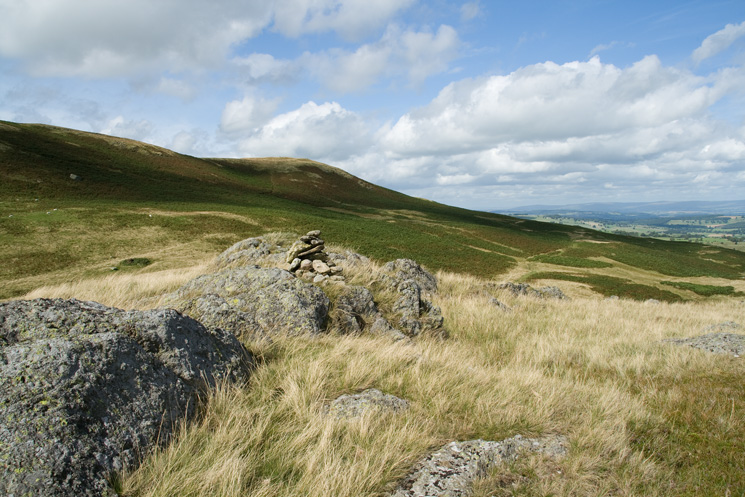 Someones built a cairn on the summit of Four Stones Hill