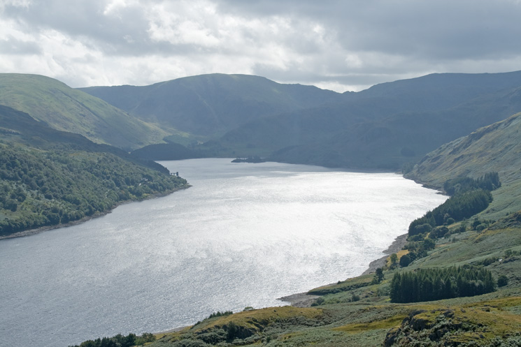 Looking up Haweswater from the summit of Four Stones Hill