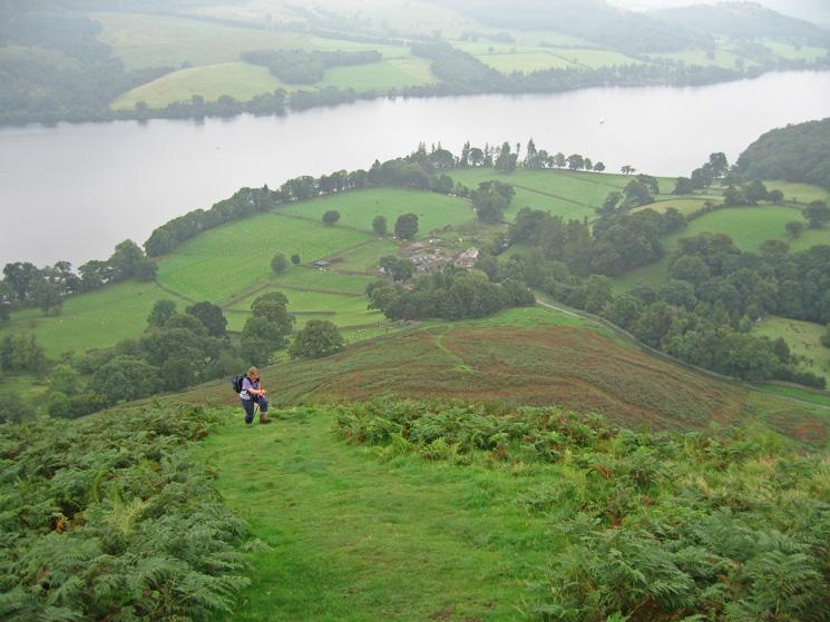 Its a steep climb up onto Sleet Fell from Sandwick