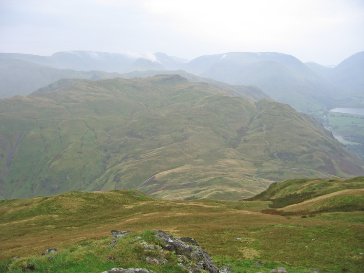Looking over Boredale Hause to Angletarn Pikes from Place Fell