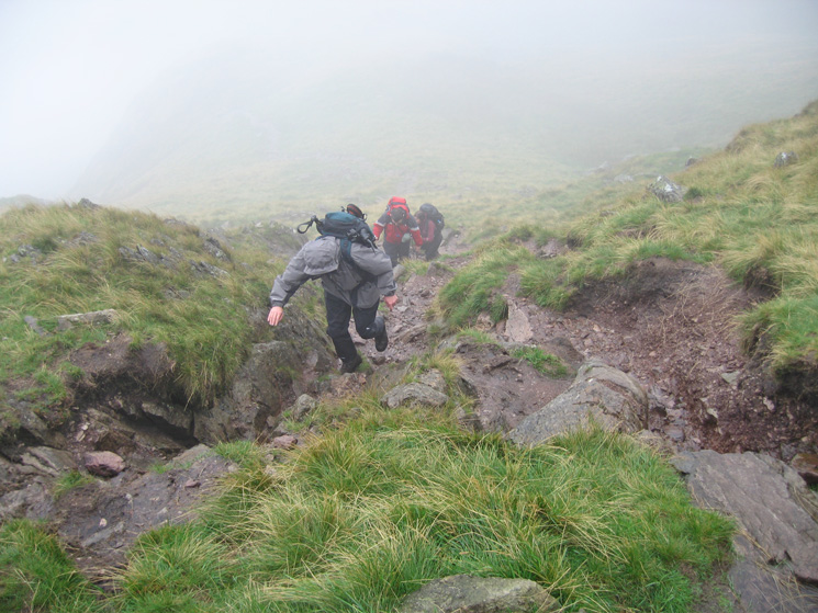 Ascending Red Screes