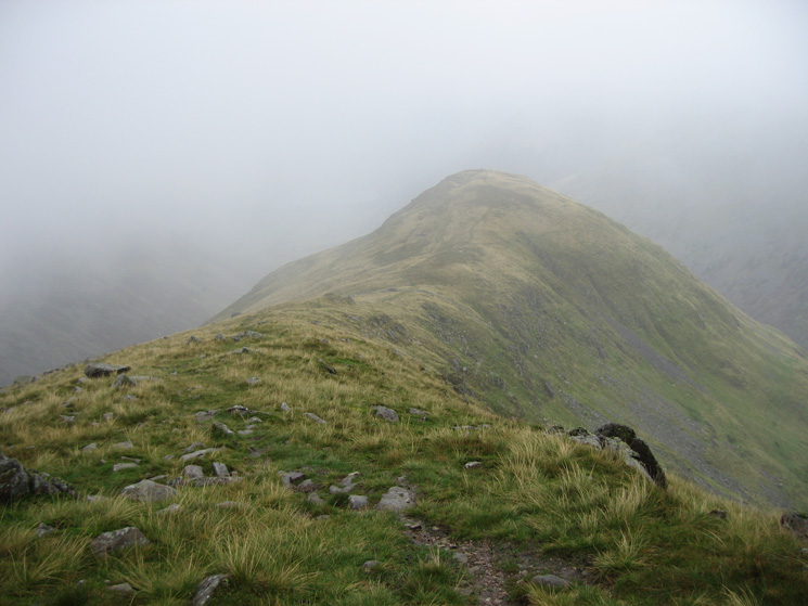 Middle Dodd comes into view as the cloud breaks