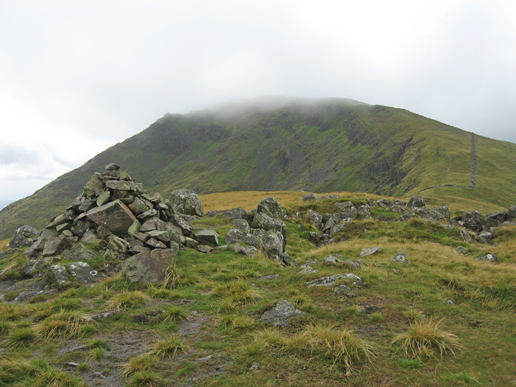 Looking back to Red Screes from the summit of Middle Dodd