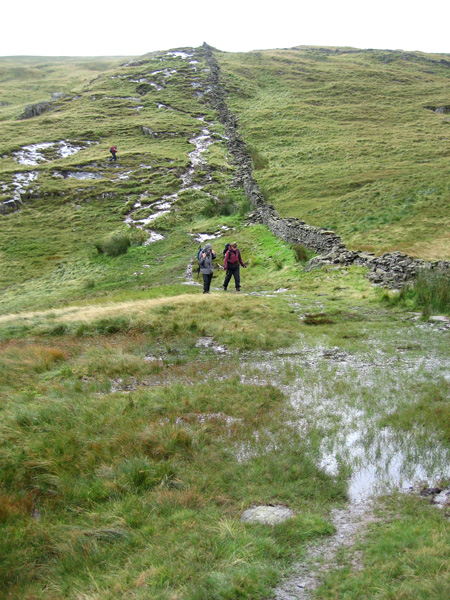 Descending to Scandale Pass