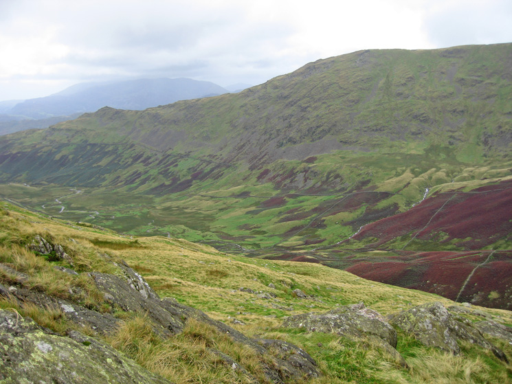 Looking over Scandale to Low Pike and High Pike