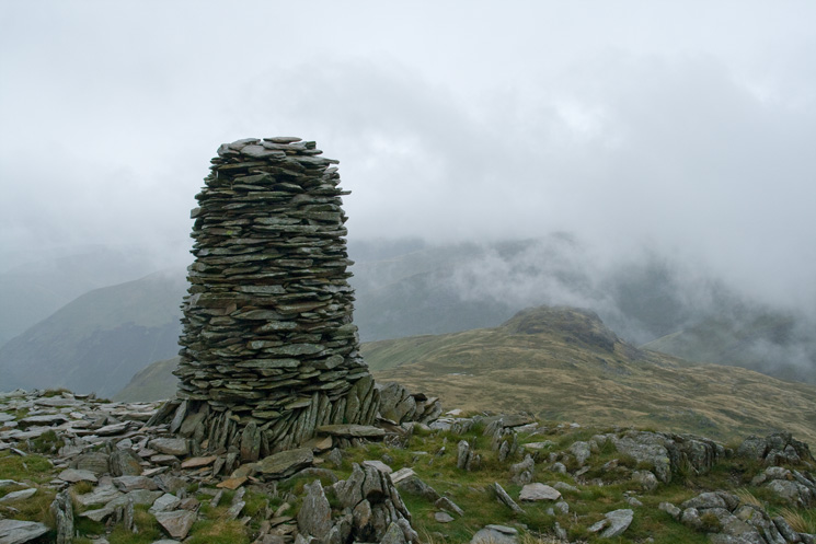 The large cairn on High Bakestones