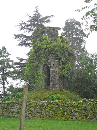 The ruined tower between Ellerigg and Sweden Bridge