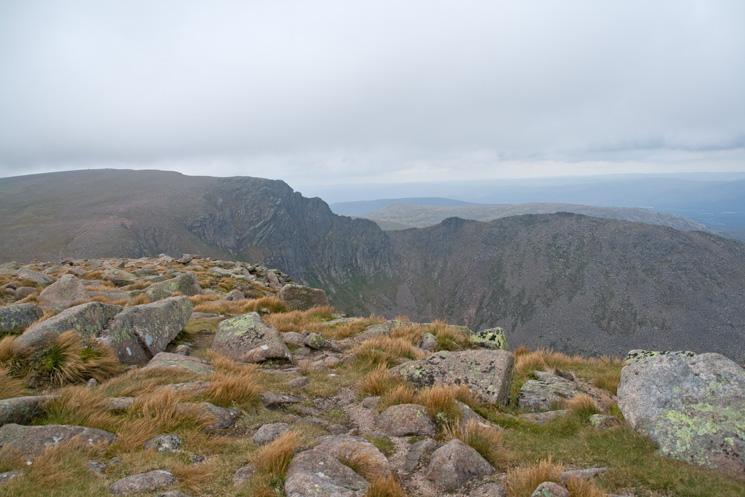Cairn Lochan and Fiacaill Buttress from Stob Coire an t-Sneachda