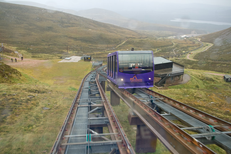 CairnGorm Mountain Funicular Railway, half way passing point