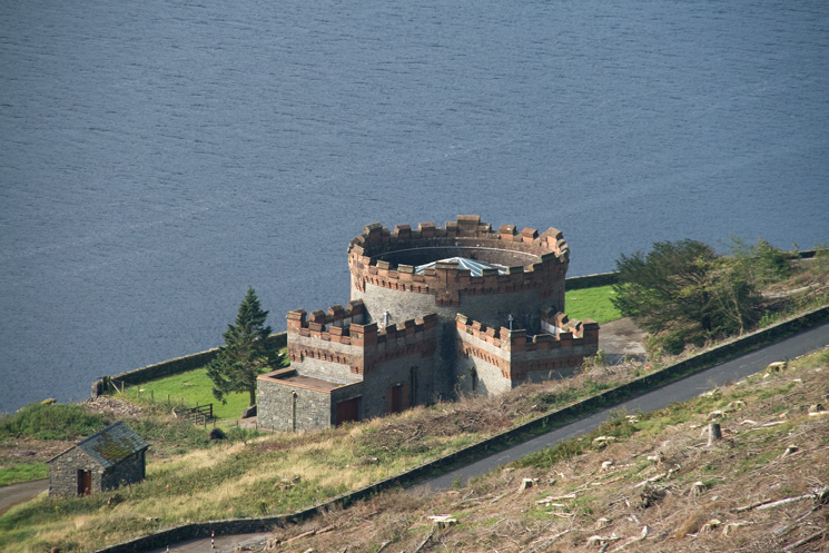 This castle-like building on Thirlmere's east shore is the straining well