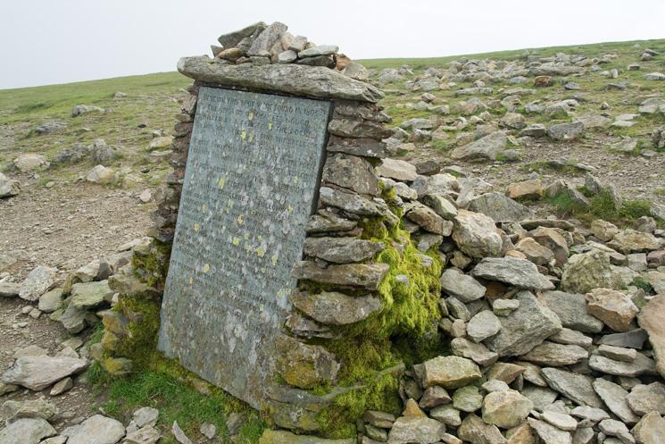 The Gough Memorial above Striding Edge