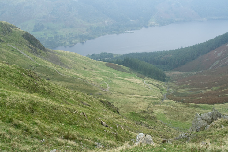Looking down on Comb Gill and Thirlmere