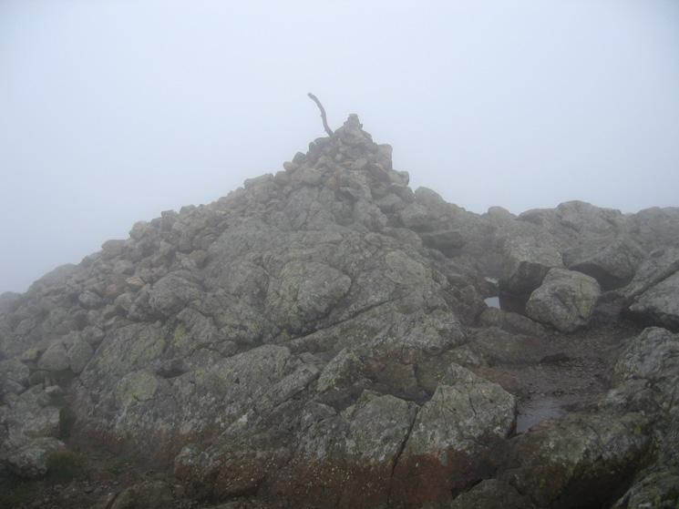 Wetherlam's summit cairn