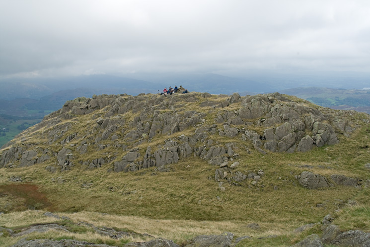 A group at Birk Fell Man summit