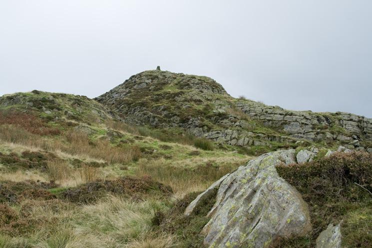 Approaching Whiteside Pike's summit